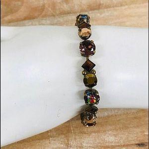 Sorrelli Mahogany &Mixed Stones Bracelet, NWT